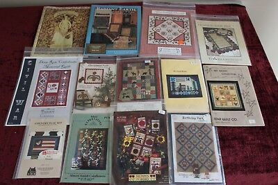 Assortment of Quilting Quilt Patterns Wall Hanging Craft Book Lot