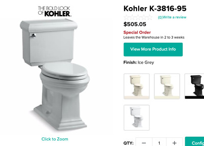 Kohler Memoirs toilet and pedestal sink with polished chrome shower head, faucet