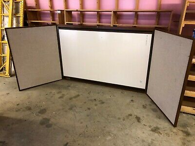 Large 12' x 4' Folding Presentation Board Dry Erase White Board Projector Screen