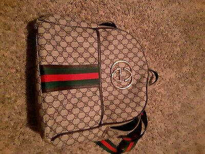 a75126a56 GUCCI BACKPACK AUTHENTIC leather and canvas double g - $500.00 ...