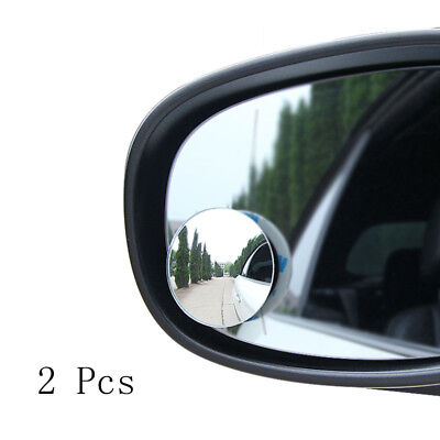 1 Pair Blind Spot Round Mirror Wide Angle Viewing Automobile Auxiliary Rearview