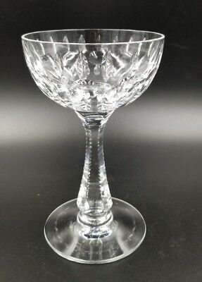 """Vtg Abp Hawkes Cut Crystal Champagne / Sherbet Glass Sierra 6"""" H * 9 Available"""