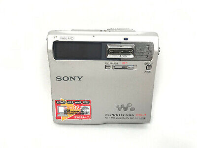 Vintage Sony MZ-N1 Silver MiniDisc Walkman Recorder G Protection Type-R Net MD