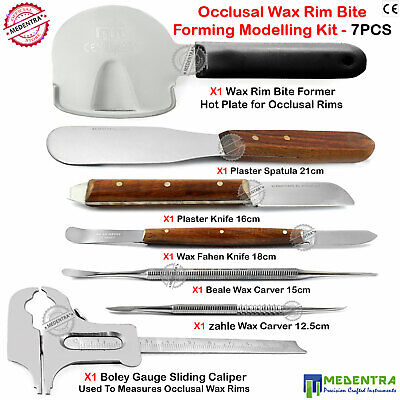 Waxing Kit Occlusal Rim Bite Former Wax Scraper Carving Carvers Knives Spatulas