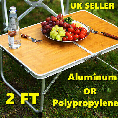 2FT Folding Table Camping Catering Picnic Party BBQ Garden Stand Tray Portable
