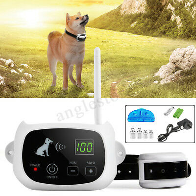 Wireless 1/3 Dog Fence Electric Containment System Waterproof Transmitter Collar