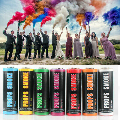 7color Smoke Colorful Round Bomb Effect Show Background Photography Pull Ring MV