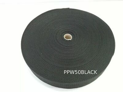 50MM Polypropylene 50 Metre Black