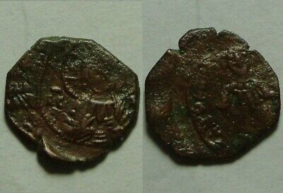 ORIGINAL ancient BYZANTINE coin trachy Latin Rulers Constantinople, Thessalonica