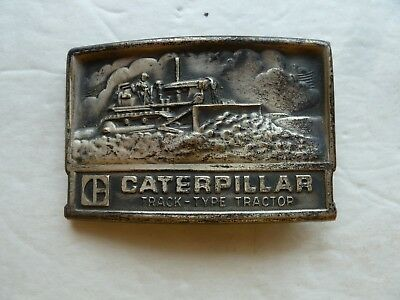 VINTAGE 1970s Caterpillar Track-Type Tractor Bulldozer Belt Buckle