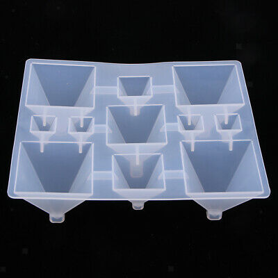 1Set Pyramid Silicone Mould DIY Resin Art Craft Jewelry Making Pendant Molds