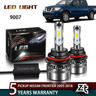 9007 HB5 Bright CSP LED Headlight Bulbs Kit Light High Low Beam 8000LM 50W 6500K