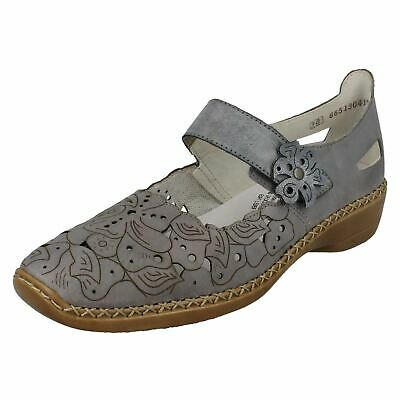 LADIES RIEKER LEATHER RIPTAPE STRAP CASUAL EVERYDAY SLIP ON SHOES L3871 SIZE | eBay
