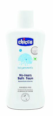 Chicco Baby Moments No Tear Bath Foam For Kids Paraben Free 200ml