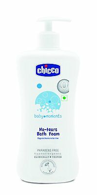 Chicco Baby Moments No Tear Bath Foam For Kids Paraben Free 500ml