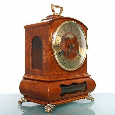 Vintage Dutch Mantel Clock WARMINK WUBA BIEDEMEIJER Top! HIGH GLOSS! BELL Chime