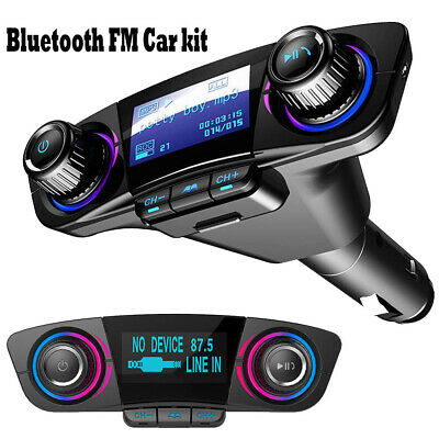 Bluetooth Car FM Transmitter Handsfree Modulator Aux Audio USB Music Player Kit