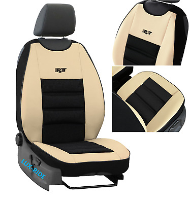 FRONT SEAT COVER MAT ECO LEATHERS & FABRIC FITS FORD FOCUS Mk1 Mk2 Mk3