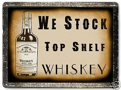 WHISKEY LIQUOR METAL sign display for BAR TAVERN vintage style wall decor 376