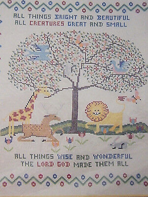 "Complete All Things  ....Spinnerin Sampler 18x20"" Printed Cross Stitch kit XX1"