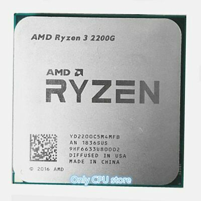 RYZEN 3 2200G 3.5 GHz Quad-Core CPU Processor YD2200C5M4MFB Socket AM4