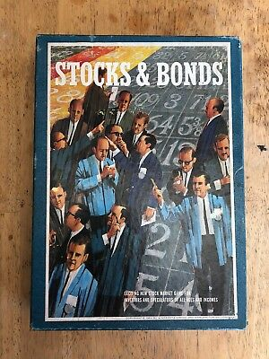 Vintage 1964 Stocks and Bonds board game by Bookshelf games 3m  812