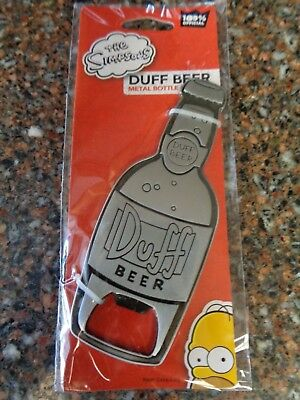 Duff Beer Metal Bottle Opener Homer Simpson Brand new Simpsons