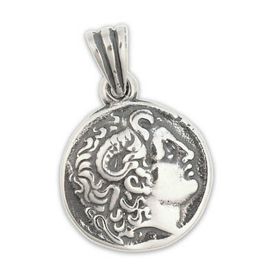ALEXANDER THE GREAT - Sterling Silver Coin Pendant