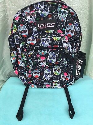 TRANS BY JANSPORT Backpack School Book Bag Black Thick