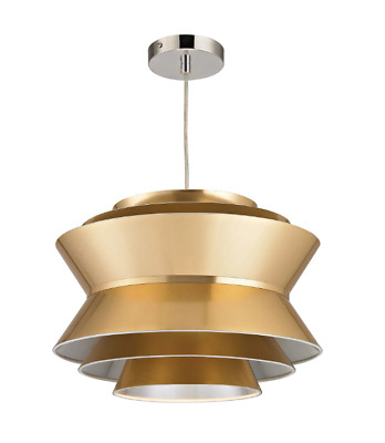 Mid Century Modern Ceiling Pendant Hanging Light Fixture Retro Atomic Gold New