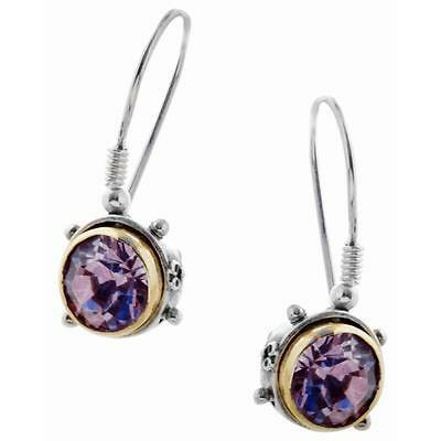 S03-S ~ Sterling Silver & Swarovski Medieval Drop Earrings