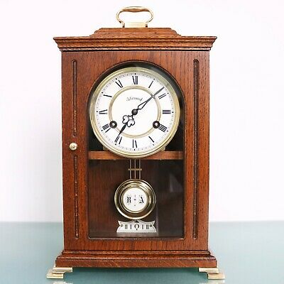 Vintage WARMINK WUBA MANTEL CLOCK TOP Condition! Mid Century Dutch SKELETON GONG