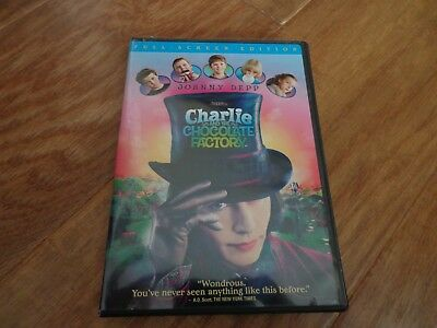 Charlie and the Chocolate Factory (DVD, 2005, Full Frame) EUC