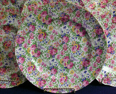 """Royal Winton Grimwades Summertime (1932+) Smooth Dinner Plate 10 1/4""""- Excellent"""