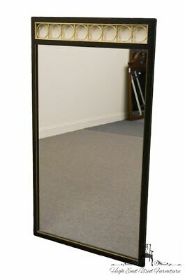 AMERICAN OF MARTINSVILLE Black and Gold Lacquered 53x30 Dresser / Wall Mirror...