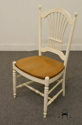 ETHAN ALLEN Country French Collection White Wheat Back Dining Side Chair 26-6200