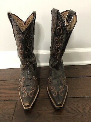 a55c8413c251 ARIAT WOMENS WILDCAT Size 8 Naturally Distressed Leopard Print ...