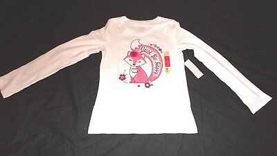 70ac853f19e14c NWT Faded Glory Size MED 7-8 Girls Long Sleeve Fox Graphic JUST BE HAPPY