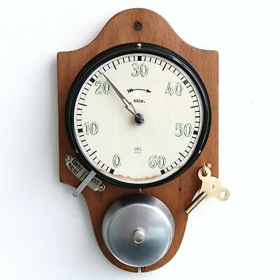 Antique German JUNGHANS CLOCK TIMER Wall 60 Minute! WOOD! Alarm! FULLY RESTORED!