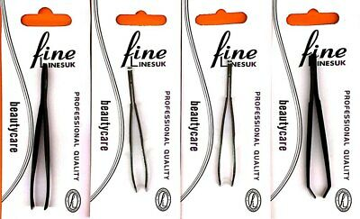 Chromed Plated Tweezers, Angled, Tonged, and Pointed, Choice of 5