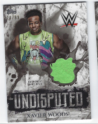 Xavier Woods 2018 Topps Wwe Undisputed Authentic Shirt Relic /99