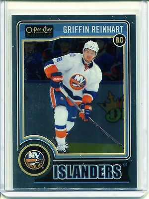 2014-15 OPC O-Pee-Chee Hockey Platinum Base  #192  Griffin Reinhart  RC