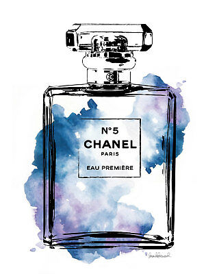 Coco Chanel Blue Perfume Print/Poster on high quality paper A4 (Unframed)