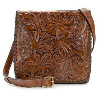 Patricia Nash Granada Tooled Leather Crossbody Bag Florence (Brown) New W/Tags