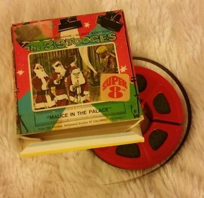 """Super 8mm The 3 STOOGES """"MALICE IN THE PALACE"""" Columbia Pictures Silent Edition"""