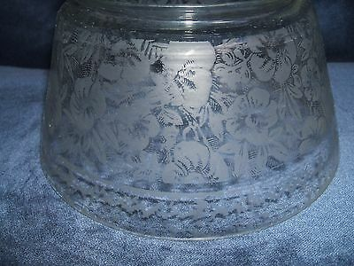 """***** Antique 3 3/4"""" Acid Etched Glass Lamp Shade *****"""