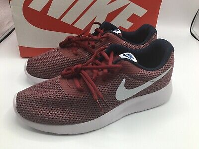 new arrival 33cbb 101a7 Nike Tanjun SE Red Grey Obsidian Mens Running Shoes Size 10.5 New! 844887  602