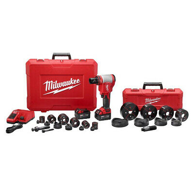 "Milwaukee 2676-23 FORCELOGIC M18 Cordless Li-Ion 10-Ton Knockout Tool 1/2-4"" Kit"