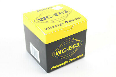 Genuine Nikon WC-E63 0.63x Wide Angle Converter Lens for Coolpix (See Details)