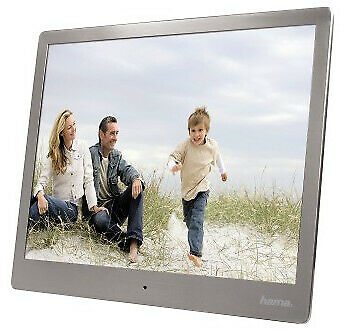 "Hama 118561 00 digital photo frame 25.4 cm (10"") Silver Steel Basic Digital"